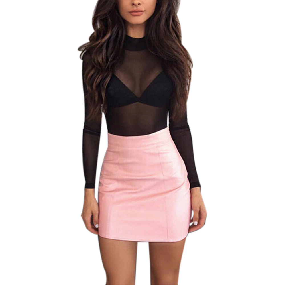 Compare Prices on Brown Leather Mini Skirt- Online Shopping/Buy ...