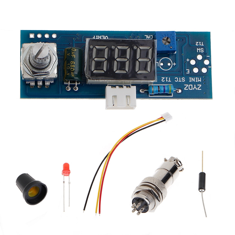 New 2017 Digital Soldering Iron Station Temperature Controller Kits For HAKKO T12 Handle Hot Sale 75w 110v sleep function hakko fx 951 digital display soldering station hakko iron fm2028 hakko t12 b2 soldering tips