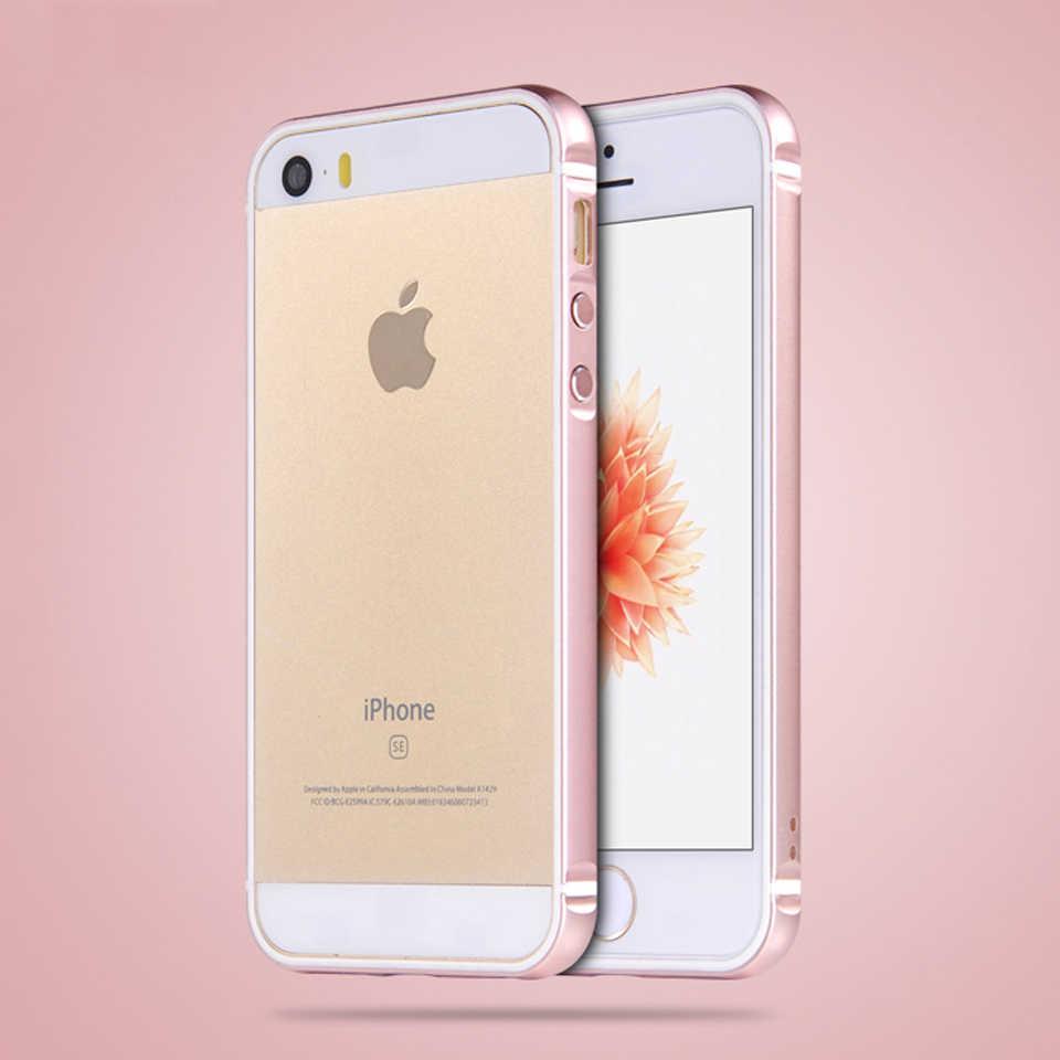 I5 SE 5 ثانية الفاخرة الألومنيوم + المطاط لينة الوفير ل iphone 5 غطاء سيليكون الإطار ل iphone 5 SE 5 5 ثانية الهجين الهاتف حالات