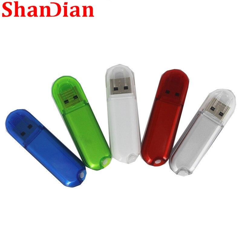 SHANDIAN 10 Colors Business USB 2.0 64GB USB Stick Flash Drive Pendrive 4GB  16GB 32GB  64GB Gift (50PCS Free LOGO) Custom Made