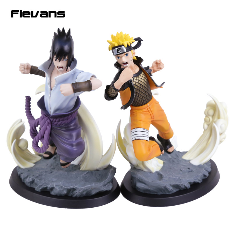 Naruto Shippuden STORM 4 Uzumaki Naruto / Uchiha Sasuke PVC Figure Collectible Model Toy pu short wallet w colorful printing of naruto shippuden uchiha itachi