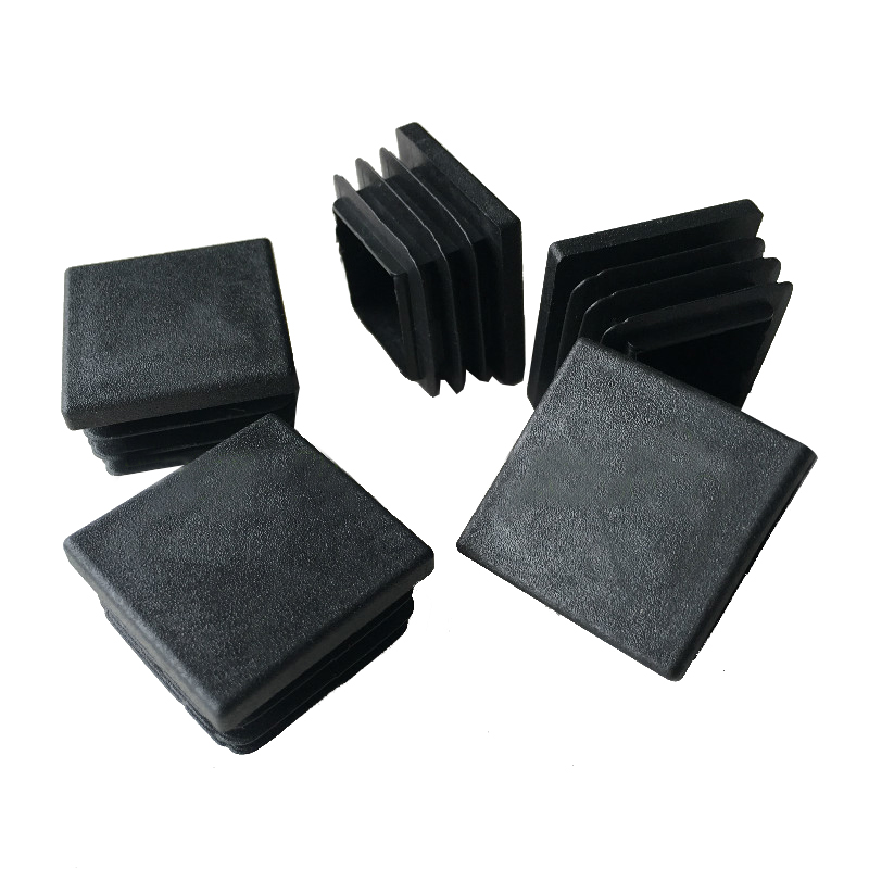 Hot Sale 15 Pieces, Plastic, Black, Cover End Caps Rubber Feet, 30 Mm X 30 Mm