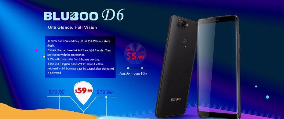 Novo BLUBOO Picasso 4G Android 6 0 Smartphone 5 0