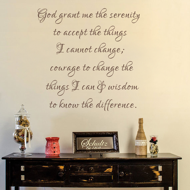 Bible Verse Wall Decal God Grant Me The Serenity Christian Decor ...