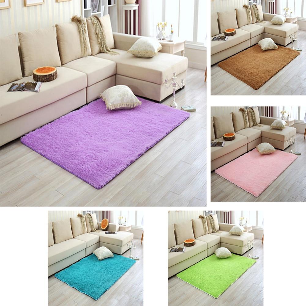 2 Dimensions 50cm*80cm Long Plush Shaggy Soft Carpet Area Rug Slip ...