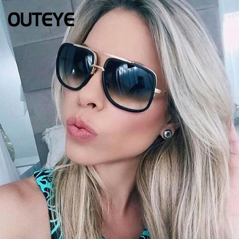 OUTEYE Fashion Square Men Sunglasses Women Luxury Design SunGlasses Male Driving Superstar Maches Female Shades