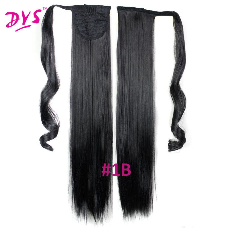 Deyngs 60cm Long Straight Clip In Hair Tail False Hair Ponytail Hairpiece With Hairpins Synthetic Hair Pony Tail Hair Extensions (6)