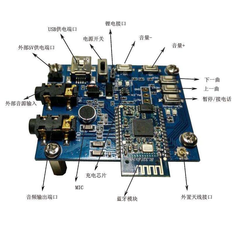 Bluetooth stereo board / wireless Bluetooth speaker / Bluetooth speaker module / wireless Bluetooth board 2in1 wireless bluetooth speaker