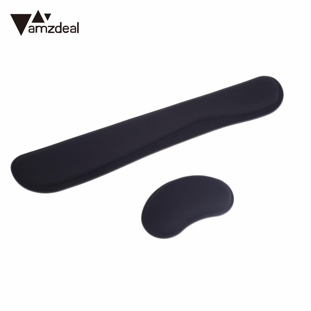 AMZDEAL Rubber Silicone Comfortable Mouse Pad Wrist Rest Cushion Keyboard Wrist Rest Pad ...