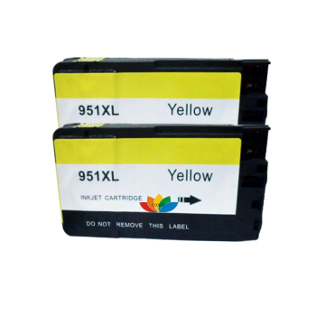 2PK Compatibile Cartuccia di Inchiostro Giallo per HP 951 hp 951XL Officejet Pro 8600 8600e 8660 8620 8630 8610 251dw 276dw 8610 8615 8625 image