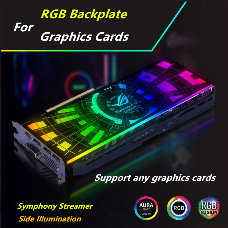 Image 4 - Customized PC Case Side Panel GPU Backplane RGB Faith Light  Colorful /RGB /D RGB AURA Streamer Backplate For Case/Graphics Card-in Fans & Cooling from Computer & Office