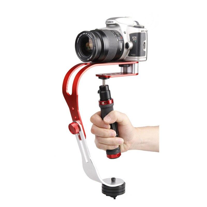 Aleación de aluminio Mini cámara Digital portátil estabilizador de vídeo Steadicam móvil DSLR 5DII movimiento DV Steadycam para Gopro