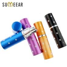 Flacon de Parfum Portable rechargeable, Mini vaporisateur en aluminium, 10ml, 50 pièces/lot
