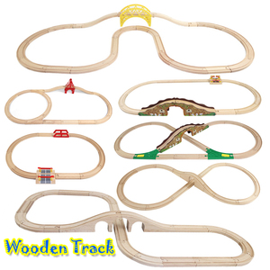 Wooden Train Track Set Railway Track Wooden Road Toys Expansion Accessories Compatible With Various Trains And Thoma