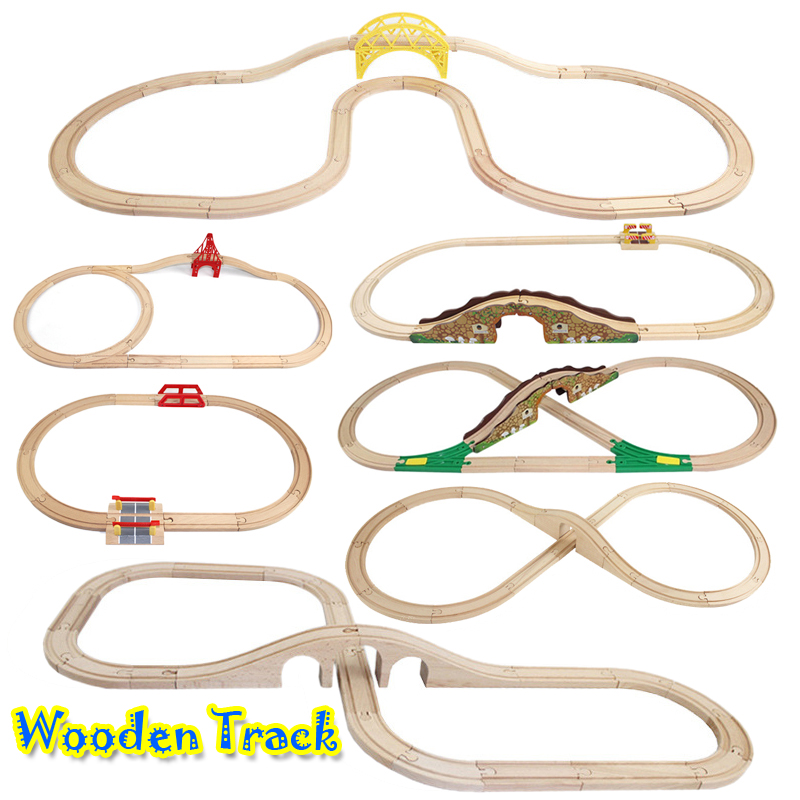 Wooden Train Track Set Railway Track Wooden Road Toys Expansion Wooden Road Accessories Compatible With Various Trains And Thoma