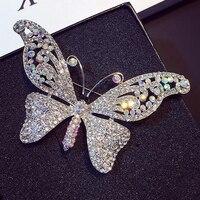New Fashion Rhinestone Brooches For Women Crystal Bow Bowknot Brooch Broach Pin Jewelry Wedding Bridal Accessories