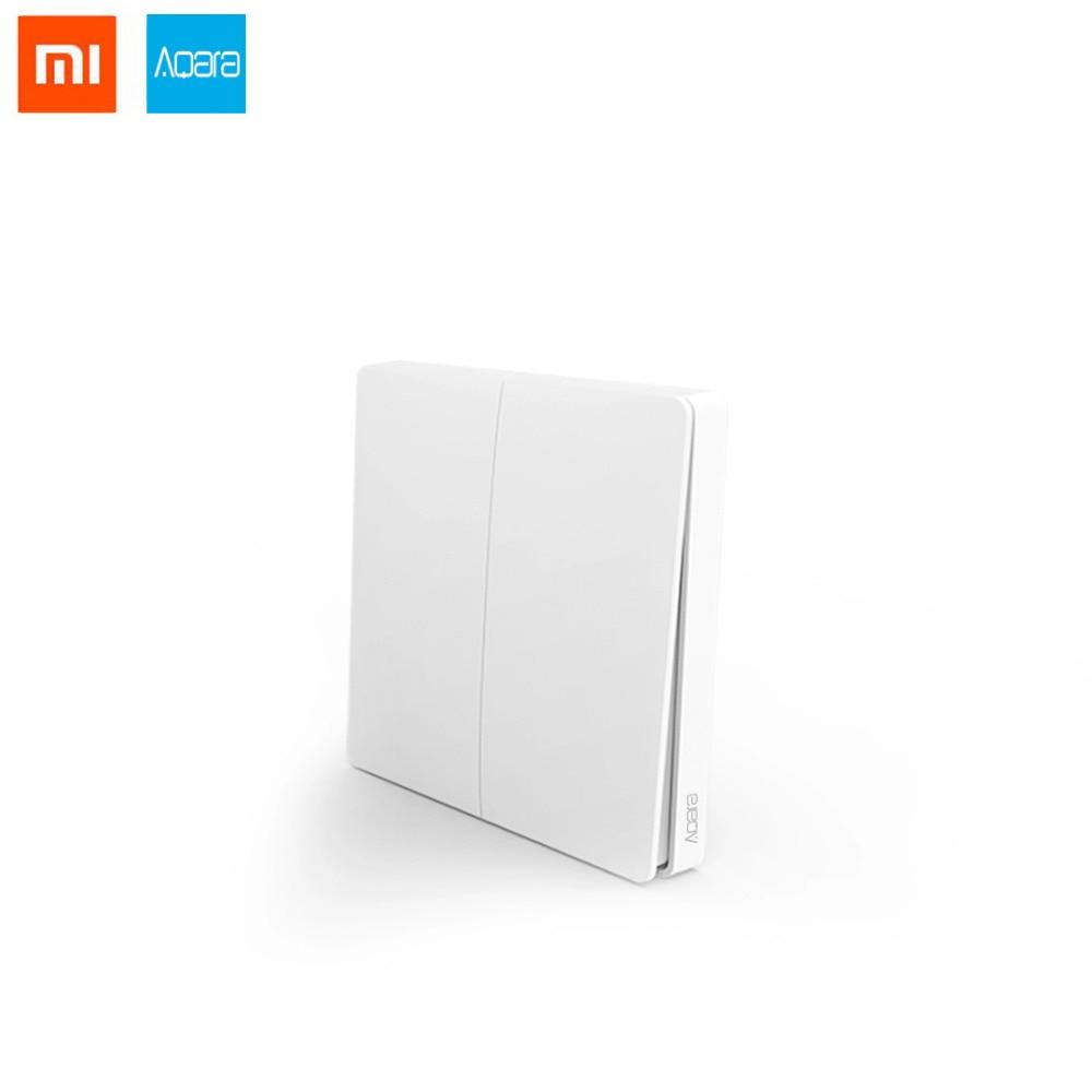 Xiaomi Aqara Wireless Smart Switch Double Buttons Light Remote Control ZiGBee wifi Key Wall Switch work with mijia Mi Home APP