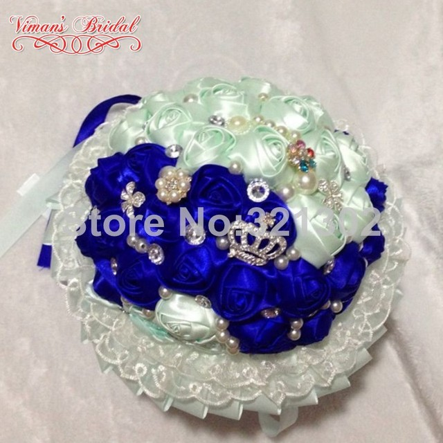 European And American Brides Holding Flowers Wedding Flowers Ornament Pearl Ribbon Wedding Bouquet De Novia Bridal Bouquets YJ21