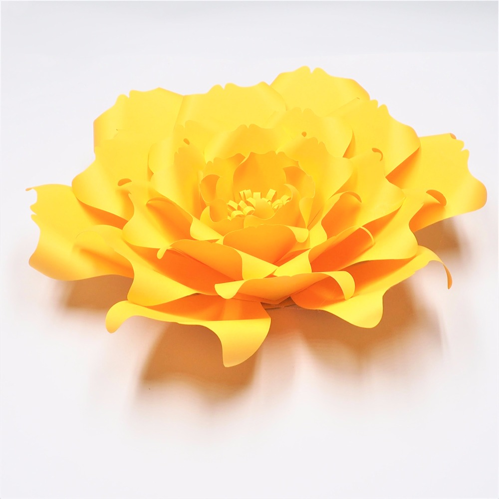 Golden Yellow 1 piece Giant Paper Flowers Nursery Wall Decor Wedding ...