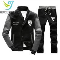 JINXIUSHIRT Sportswear Men Compression Sport Suit Basketball Shirts Jogging Pants Gym Fitness Zipper Running Sets Plus