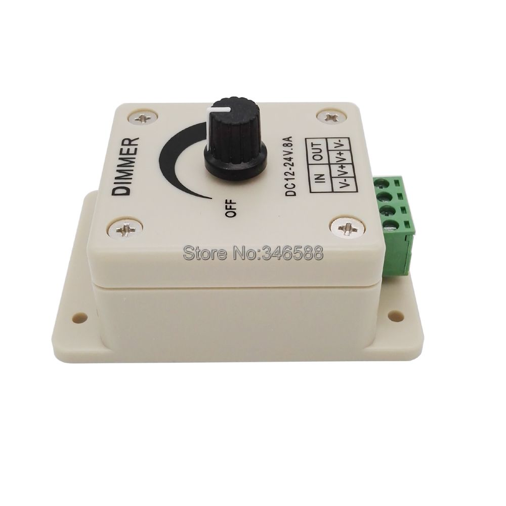 Dc12v 24v 8a Single Channel Led Dimmer Adjustable Brightness Controller With Knob Switch Strip Light Lamp In Dimmers From Lights New 12v Lighting Control