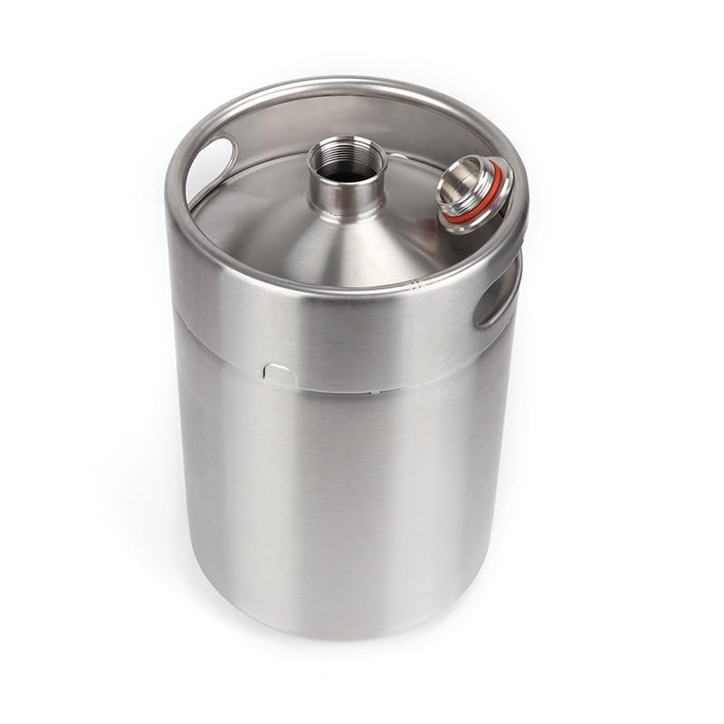 304 Stainless Steel 5L/3.6L/2L Mini Keg Beer Pressurized Growler Portable Beer Bottle Home Brewing Beer Making Tool 5