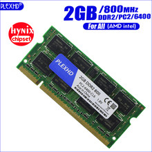 PLEXHD 2G 2GB DDR2 pc2 6400 800Mhz 2RX8 portátil memoria 2G pc2-6400S ddr2 800 MHZ 200pin notebook RAM (hynix chipset)(China)
