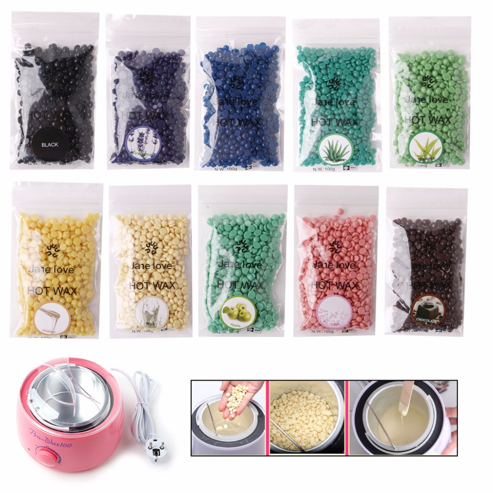 50g Hard Wax Beans Hair Removal Waxing Hot Bikini Depilatory No Strip Pellet 300g hard wax beans pellet waxing bikini hair removal wax beeswax lavender banana rose tea strawberry chamomile