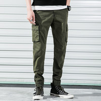 Men Pants Slim Casual Sport Overalls Pantalon Homme Male Army Green Micro Elastic Trousers For Office Travel Calcas Dos Homens