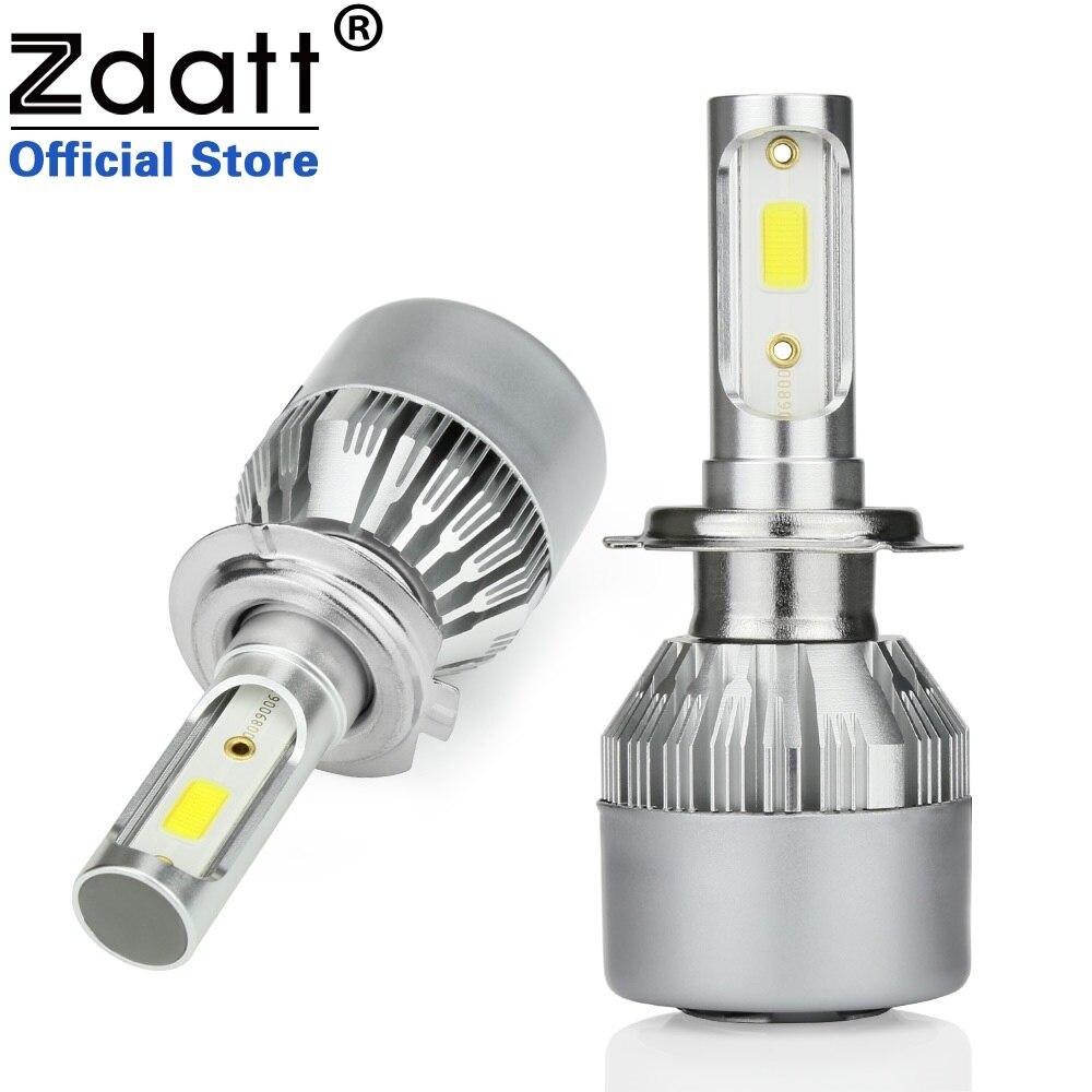 2Pcs H4 LED H7 H11 H8 9006 HB4 H1 H3 HB3 H9 Car Headlight Bulbs LED