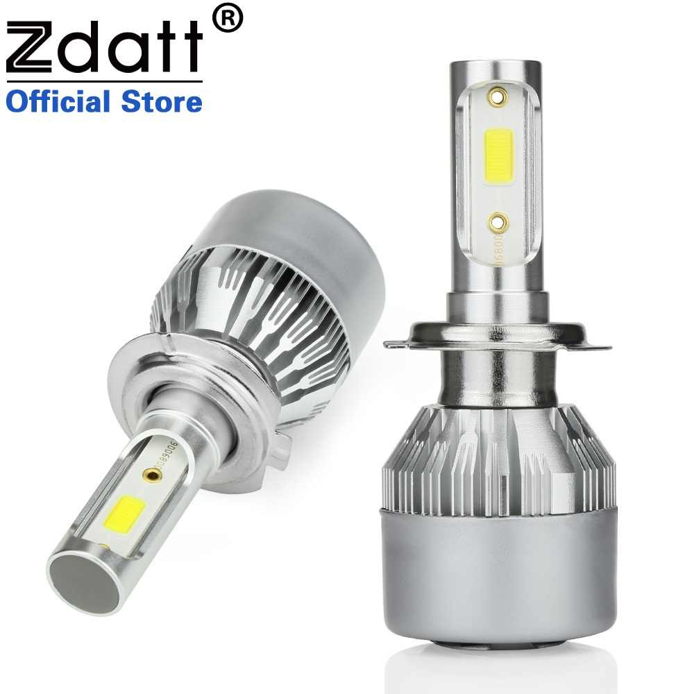 Zdatt H7 LED H4 H11 H8 9006 HB4 H1 H3 HB3 H9 Car Headlight Bulbs LED Lamp COB Chip 80W 12V 8000LM 6000K Auto Led Lights
