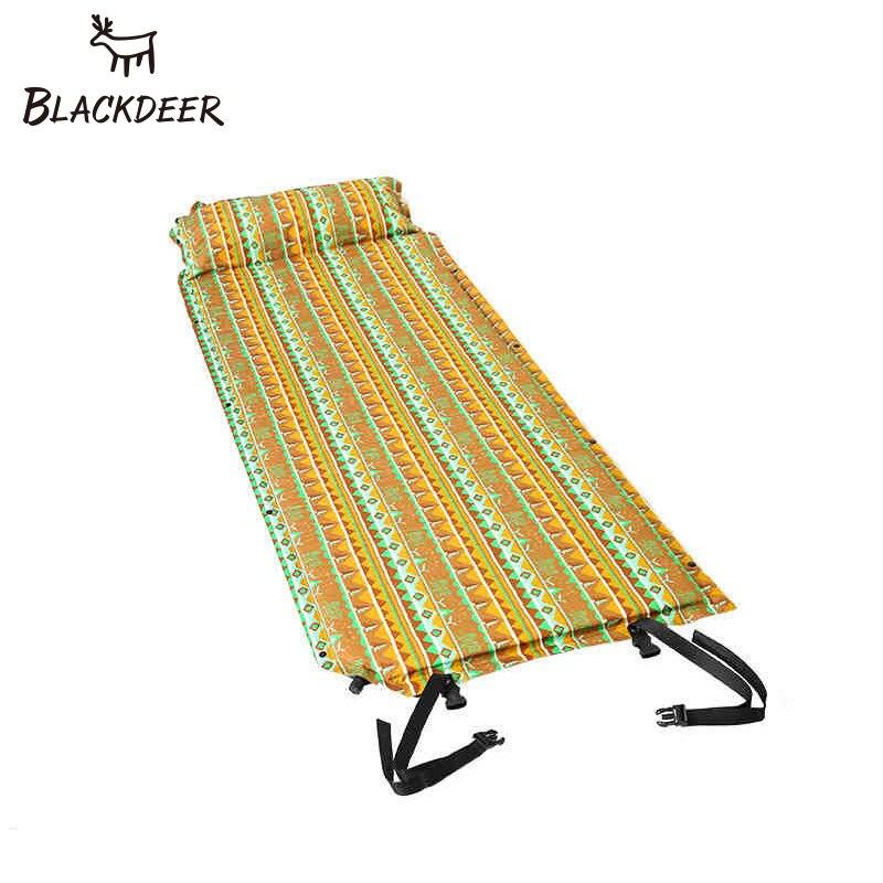BLACKDEER Outdoor Inflatable Mattress Sleeping Bag Mat Fast Fill Air Moistureproof Camping Mat Comfortable Pillow Sleeping
