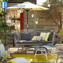 Mobília ao ar livre Corda Sofá Pátio Com Jardim