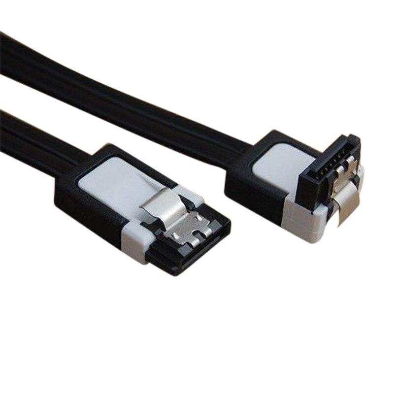2 pièces SATA 3.0 III SATA3 6 Gb/s SSD disque dur données Direct/Angle droit câble Jun22 professionnel prix usine livraison directe