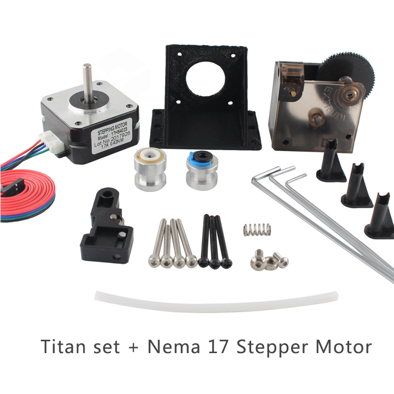 1set 3D Printer Titan Extruder Fully Kits with stepper motor for 1.75mm filament for J-head bowden Extruder for 3D Printer parts