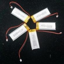 XINJ 5 sztuk 3.7 V 600 mAh litowo polimerowy akumulator lipo komórek 2pin JST 1.25mm wtyczka dla GPS PSP DVC DVR mp4 kamera E-book telefon 702050