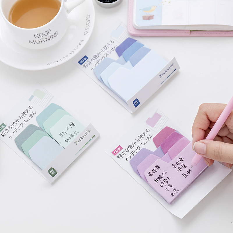 Jonvon Satone Sticky Notes Stationery Color Classification Message Indexing Paste Office Study Classified Tips Prompt Stickers
