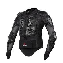 HEROBIKER aliado de corrida de motocross terno jaqueta dos homens Novos homens de Moda de Nova Preto e Vermelho Da Motocicleta Completa Body Armor Jacket S-XXXL