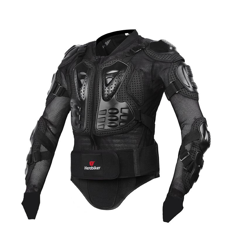 Prix pour HEROBIKER Nouveau Hommes de motocross racing allié costume veste hommes Nouvelle Mode Noir et Rouge Moto Complet Body Armor Veste S-XXXL
