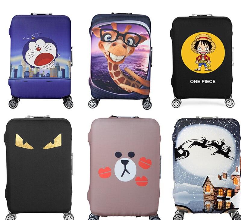 19-32 Zoll Doraemon Einem Stück Elastischen Gepäck Schutzhülle Trolley Koffer Schützen Staub Tasche Fall Cartoon Reise Zubehör