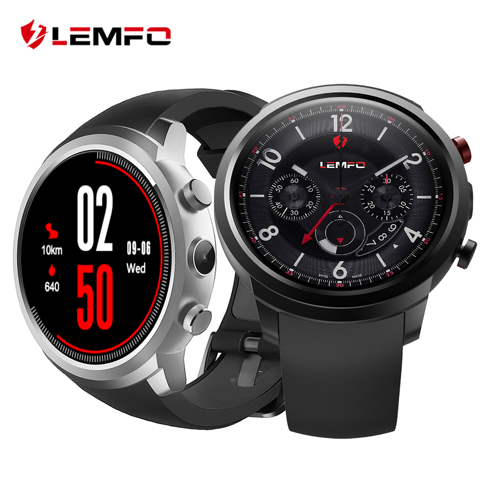 LEMFO LEF2 Smart Watch Smartwatch 512MB + 8GB Watch Phone MTK6580 Smartwatch Android Camera Heart Rate Monitor Bluetooth 3G GPS