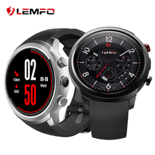 Ограниченное предложение LEMFO LEF2 Smart Watch Smartwatch 512MB + 8GB Watch Phone MTK6580 Smartwatch Android Camera Heart Rate Monitor Bluetooth 3G GPS