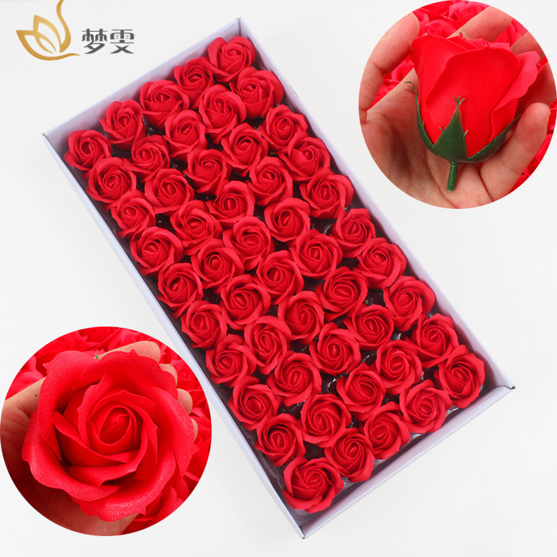 100Pcs/2Box Soap Flowers For Decoration Gift For Anniversary/Birthday/Wedding/Valentine'S Day Bath Soap Rose Flower