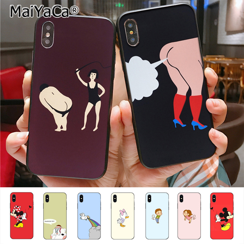 MaiYaCa Funny <font><b>Sexy</b></font> <font><b>Girl</b></font> Cartoon Butt Fart Amazing landscape Phone <font><b>Case</b></font> for <font><b>iphone</b></font> 11 Pro 8 <font><b>7</b></font> 6 6S Plus X 5 5S SE cass image