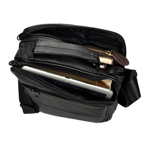 Image 5 - Brand Men Bag 2020 Fashion Mens Shoulder Bags High Quality Leather Casual Messenger Bag Business Mens Travel Bags Handbags