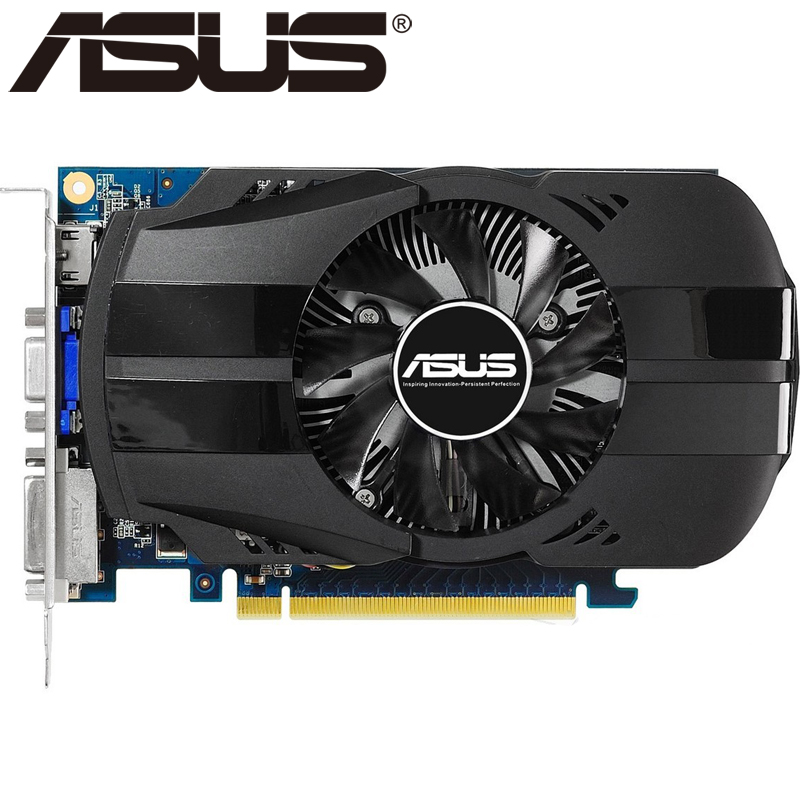 ASUS Video Card Original GTX 650 1GB 128Bit GDDR5 Graphics Cards for nVIDIA Geforce GTX650 Hdmi Dvi Used VGA Cards On Sale отвертка шлицевая npi crmo sl 3 0 x 60 мм