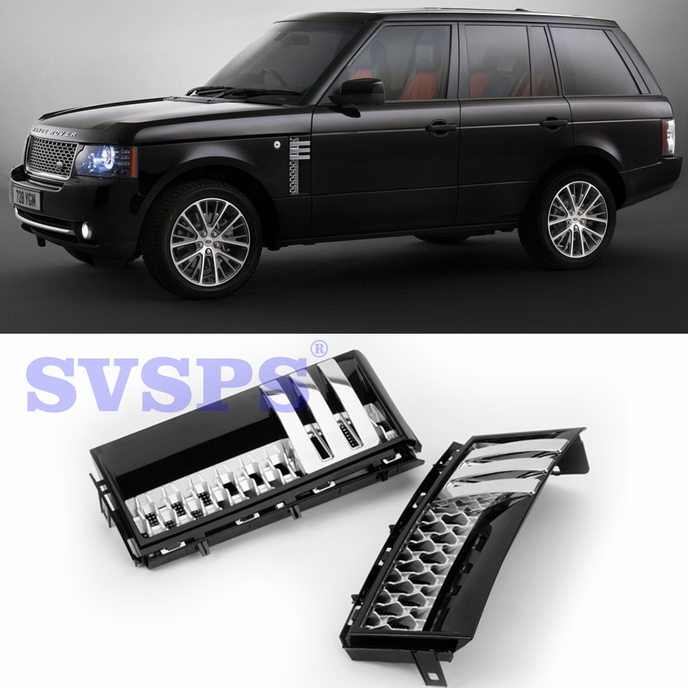 цена на Auto Parts Tuning Front Middle Grille Side Air Vents Autobiography style For Land Range Rover Vogue L322 2002-12 year Vehicle