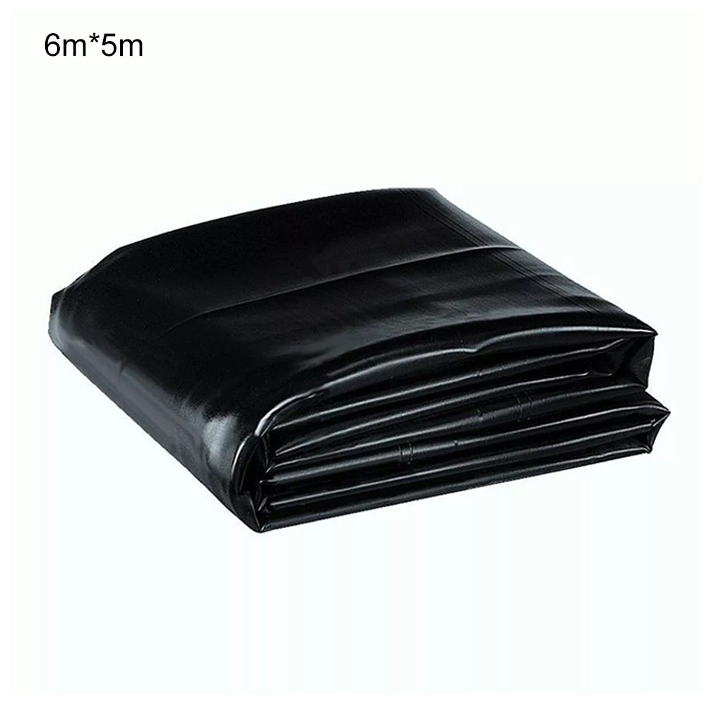Black Fish Pond Liner Gardens Pools Membrane Reinforced Guaranty Landscaping Gardens Pool Accessories Easy To Work 6m*5m