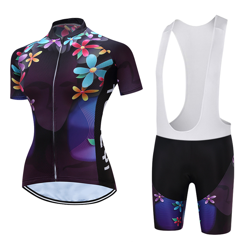2018TELEYI Women Cycling Jerseys Cycling Clothing Bib Shorts Breathable Quick Dry Bicycle Wear Maillot Ciclismo Bike Clothes