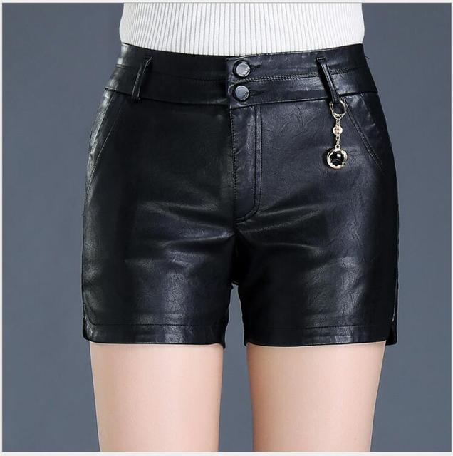 eb1c0962c € 18.08 12% de réduction|Shorts femmes S 5XL printemps nouvelles femmes  grande taille noir shorts 2017 automne hiver femmes sexy shorts en cuir ...